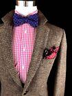 VINTAGE Harris Tweed Men's Brown Tweed Scottish Wool Slim Sport Coat Jacket 42R