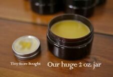 Organic Natural Handmade Beeswax Coconut Oil Peppermint Lip Balm HUGE 2 oz Jar