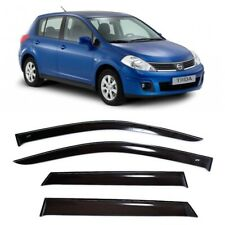 For Nissan Tiida (C11) Hb 2004-2014 Window Visors Sun Rain Guard Vent Deflectors