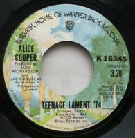 "ALICE COOPER Teenage Lament 74 U.S PRESSING 7"" VINYL SINGLE 1973 CLASSIC ROCK"
