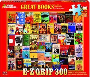"White Mountain Great Books 300 piece jigsaw puzzle 18"" x 24"""