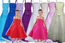 Vestido Dama de Honor Flor Niña Vestido de Fiesta 5 6 7 8 9 10 11 12 Años