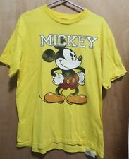 Disney Mickey Mouse Mens Yellow Short Sleeve T-Shirt Size L