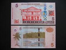 SURINAME  5 Dollars 2012  (P162b)  UNC