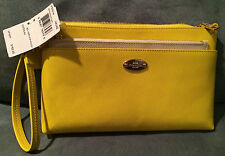 COACH BCL CROSSGRAIN LEATHER CLUTCH WITH POP POUCH - NEW WITH TAGS