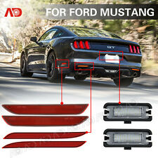 For Ford Mustang LED Side Marker Light Bumper Reflector License Plate Lamp 6pcs
