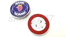 Saab Scania 9, 5, 9-5 9-3 Blue Front Hood Bonnet Emblem Badge Symbol Logo