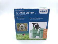 Anti - Siphon Sprinkler Valve - Orbit 57623 Heavy Duty 3/4� Fpt Read
