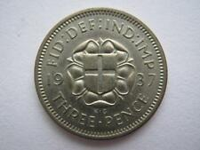 1937 silver Proof Threepence.