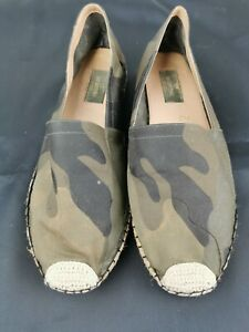 Authentic Valentino Garavani Men's CAMOUFLAGE slip on Espadrilles UK 8 EU 41