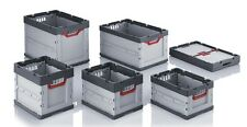Faltbox mit Deckel Auer Kunststoffbehälter Klappbox Kiste Box diverse größen