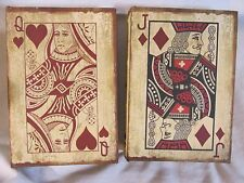 JACK & QUEEN CARDS Jewlery storage boxes book CASINO GAME ROOM decor GAMBLER