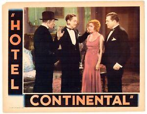 HOTEL CONTINENTAL - 1932  Peggy Shannon, Theodore von Eltz, J. Farrell MacDonald