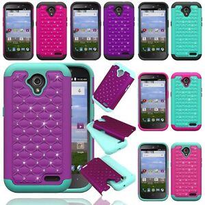 ZTE Stratos LTE Z819C / Allstar Z818L Hybrid Hard Diamond Case Skin Phone Cover