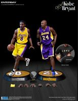 ENTERBAY NBA Collection KOBE BRYANT LA LAKERS 1/6 Real Masterpiece Figure 2-Pack