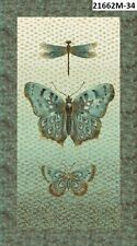 Flights of Fancy Metallic Butterfly 21662M-34 Quilt fabric Northcott Panel Earth