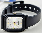 Casio LQ-142E-7A Ladies White and Gold Analog Watch Resin Gold Markers NEW