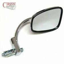 "CLASSIC CHROME MOTORCYCLE BAR END MIRROR 7/8"" BARS LEFT OR RIGHT FITMENT"