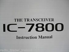 ICOM-7800 (GENUINE INSTRUCTION MANUAL ONLY)..........RADIO_TRADER_IRELAND.