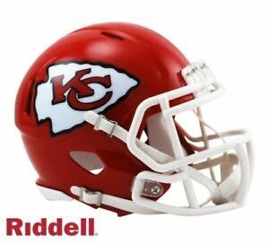 Kansas City Chiefs Speed Riddell Football Mini Helmet New in box