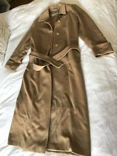 Max Mara Fall Winter Coat USA 8 Wool Alpaca Brown Made In Italy