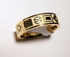 Fingerring Band Ring Damen Herren unisex Fashion 18 K gold plated Ringgröße 18