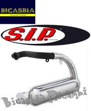 5866 - MARMITTA A SILURO CROMATA SIP ROAD VESPA 50 SPECIAL R L N CUFFIA ALTA
