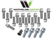 M14x1.5 Secure Wheel Bolt Kit 16x 45mm Radius 4x 45mm Radius Locking Bolts