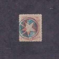 Scott 208 - Lincoln 6 Cent. Single. Used. Blue Fancy Cancel.      #02 208b