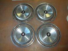 """Buick LeSabre Invicta Hubcap Rim Wheel Cover Hub Cap 1962 62 15"""" OEM USED A7 SET"""