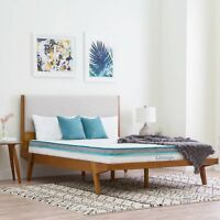 "6"" Inch Memory Foam King Size Box Full Spring Frame Mattress Set Bed Frame Air"
