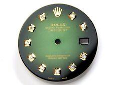 Rolex Mens Datejust 2 Tone Green Vignette Color Dial with Diamond