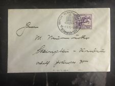 1936 Berlin Germany Olympic Cover & Cancel 40 Stamp