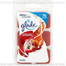 6 X Glade Wax Melts Refill Burner Fragrance Spiced Apple & Cinnamon up to 96 H