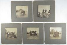 5 Antique Photographs People at the Beach South Atlantic City New Jersey 1902