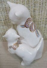Lenox Jewels Collection Playful Cat & Kitten Motherly Love Figurine Made Usa C2