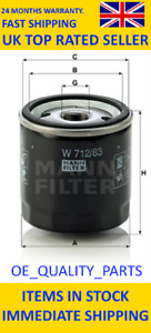 Oil Filter Engine W71283 MANN for Toyota 4 Runner Auris Camry Carina Celica