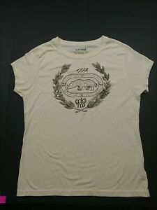 T-shirt - L - Off white/ slight yellow - Ecko Red
