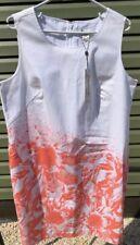 Spanner 14W Inspired Style white Coral Gables sleeveless summer jumper dress