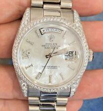 Rolex President 36mm 118239 Pave Diamond lugs Bezel for 18k White gold 81339