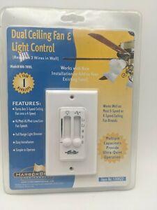 Harbor Breeze WM-7WWL Universal Ceiling Fan & Light Wall Control #0130622