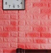 3D Wallpaper PE Foam Free DIY Pink Wall Stickers Wall Decor Embossed Brick Stone