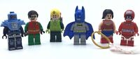LEGO LOT OF 6 SUPER HERO MINIFIGURES BATMAN CALENDAR MAN KITE MAN ROBIN MORE
