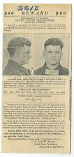 Wanted Notice - Elmer J. Turner - Parole Violator - Atlanta, GA - 1922