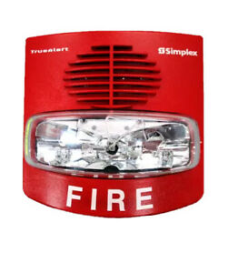 0743254 Simplex 4906-9127 Wall Horn Strobe (Red) Fire Alarm Security System