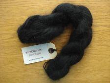 One Hank BLACK Yarn Creations 100% Angora Yarn - 25 Grams - New