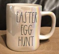 "New Rae Dunn By Magenta ""EASTER EGG HUNT"" Iridescent Easter Spring Coffee Mug"