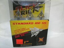 Slick Trick 100SS Standard 4 blade Stainless 100 Grain Fixed Broadheads