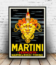 Martini Vermouth : vintage drinks advertising , Poster reproduction.