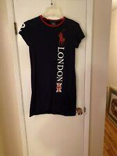 Ralph Lauren Big Pony T-Shurt Dress 2012 Olympics London Union Jack Navy M